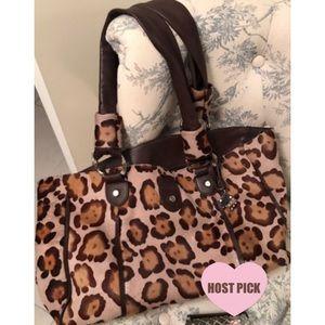 Falor Italian leather & calf hair satchel
